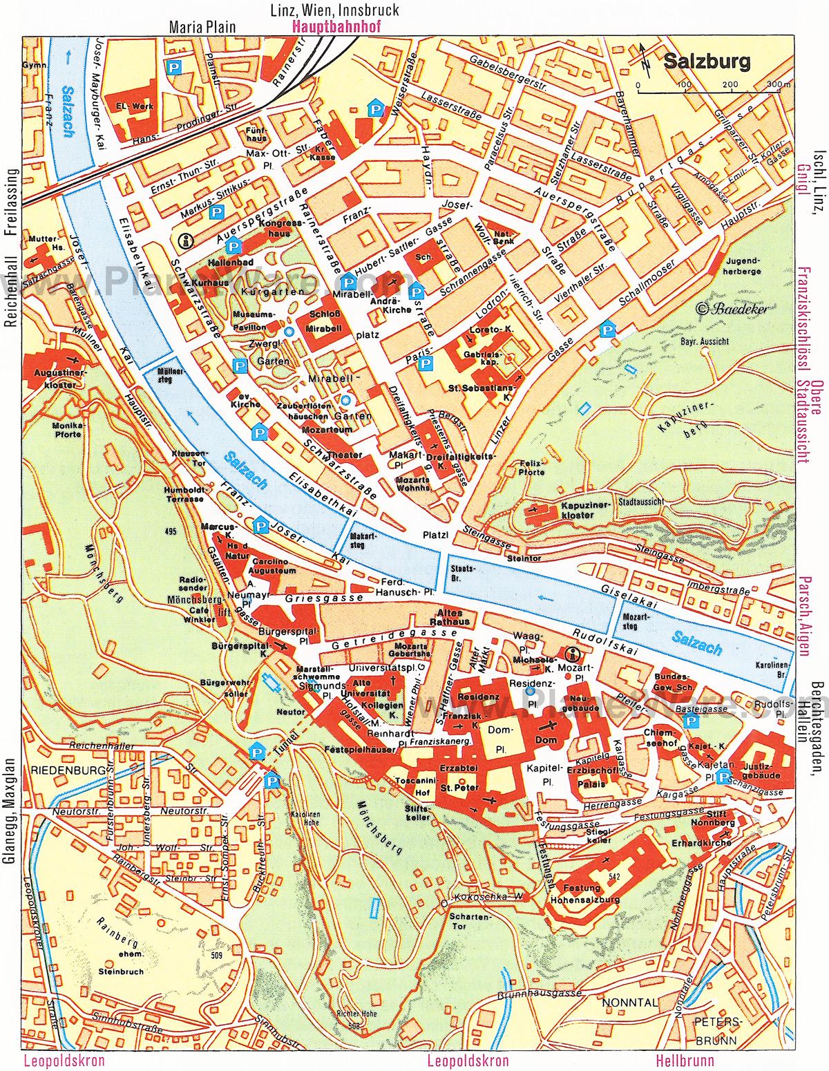 Mapa Mapa Salzburgu