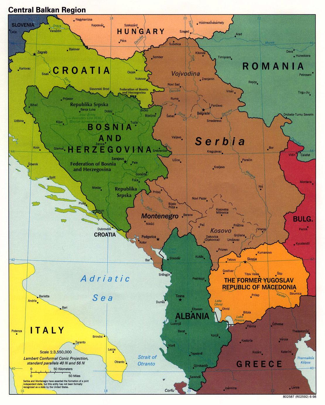 Mapy Balkanow Szczegolowe Polityczne Reliefowe Drogowe I Inne