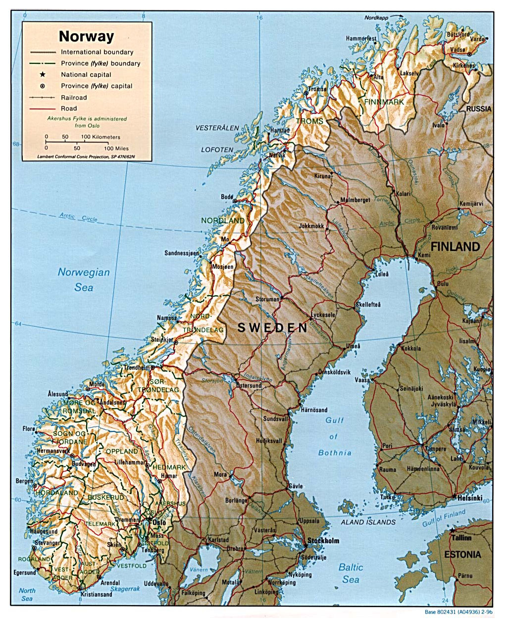 Maps Of Norway Detailed Map Of Norway In English Tourist Map