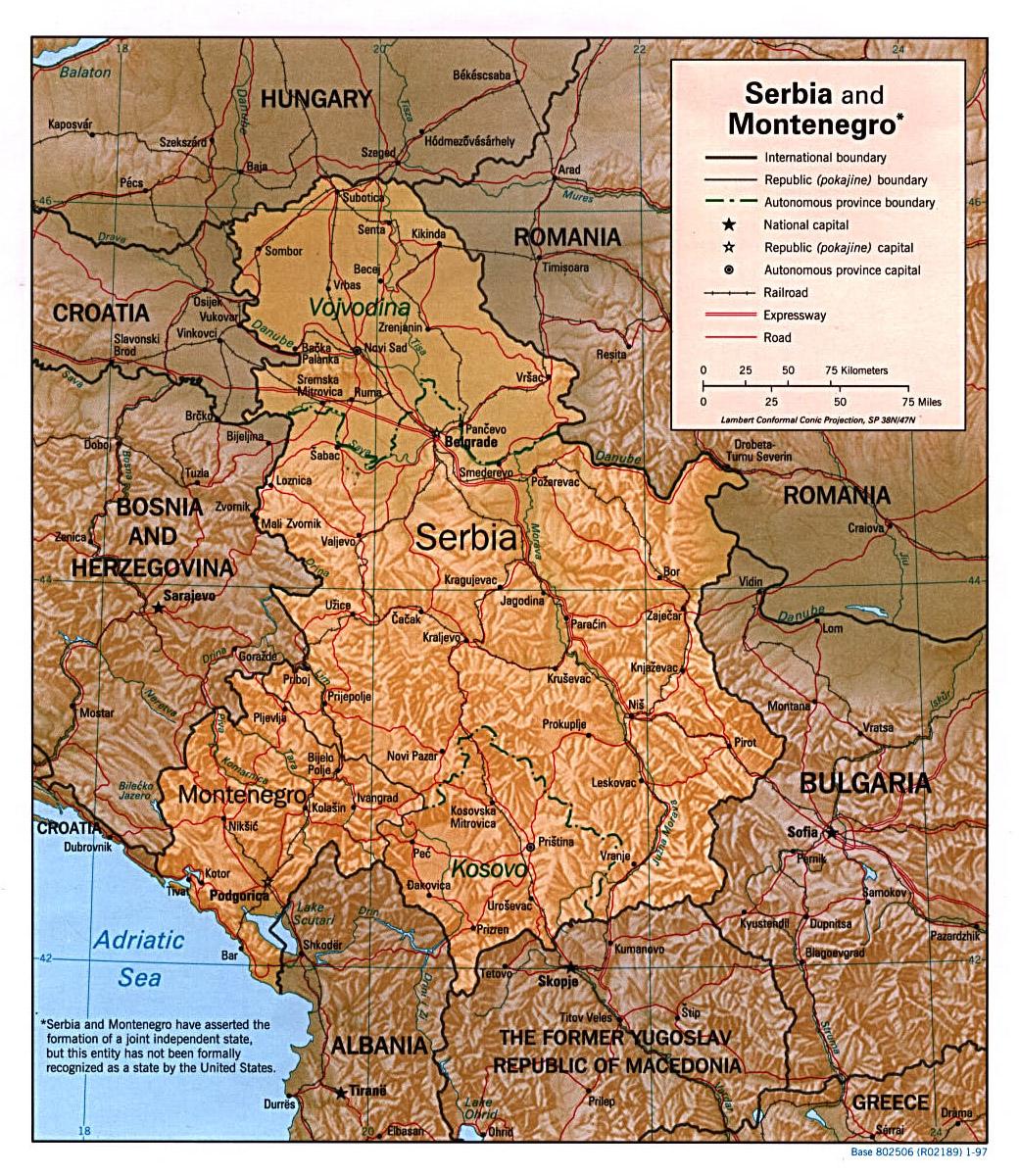 Mapy Serbii Szczegolowa Mapa Serbii W Jezyku Angielskim Mapa