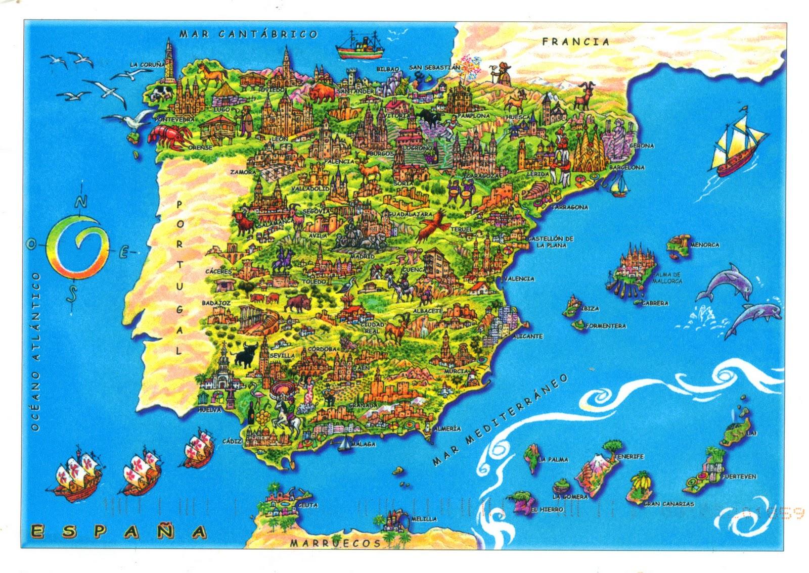 mapy hiszpanii