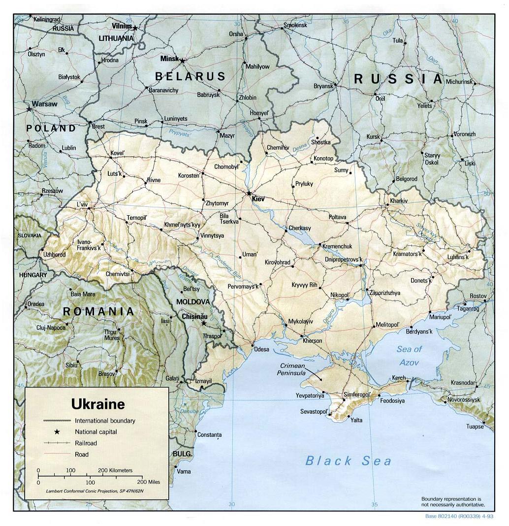 Mapa Ukrainy Szczegółowa Mapa Ukrainy Z Regionami I Miastami W