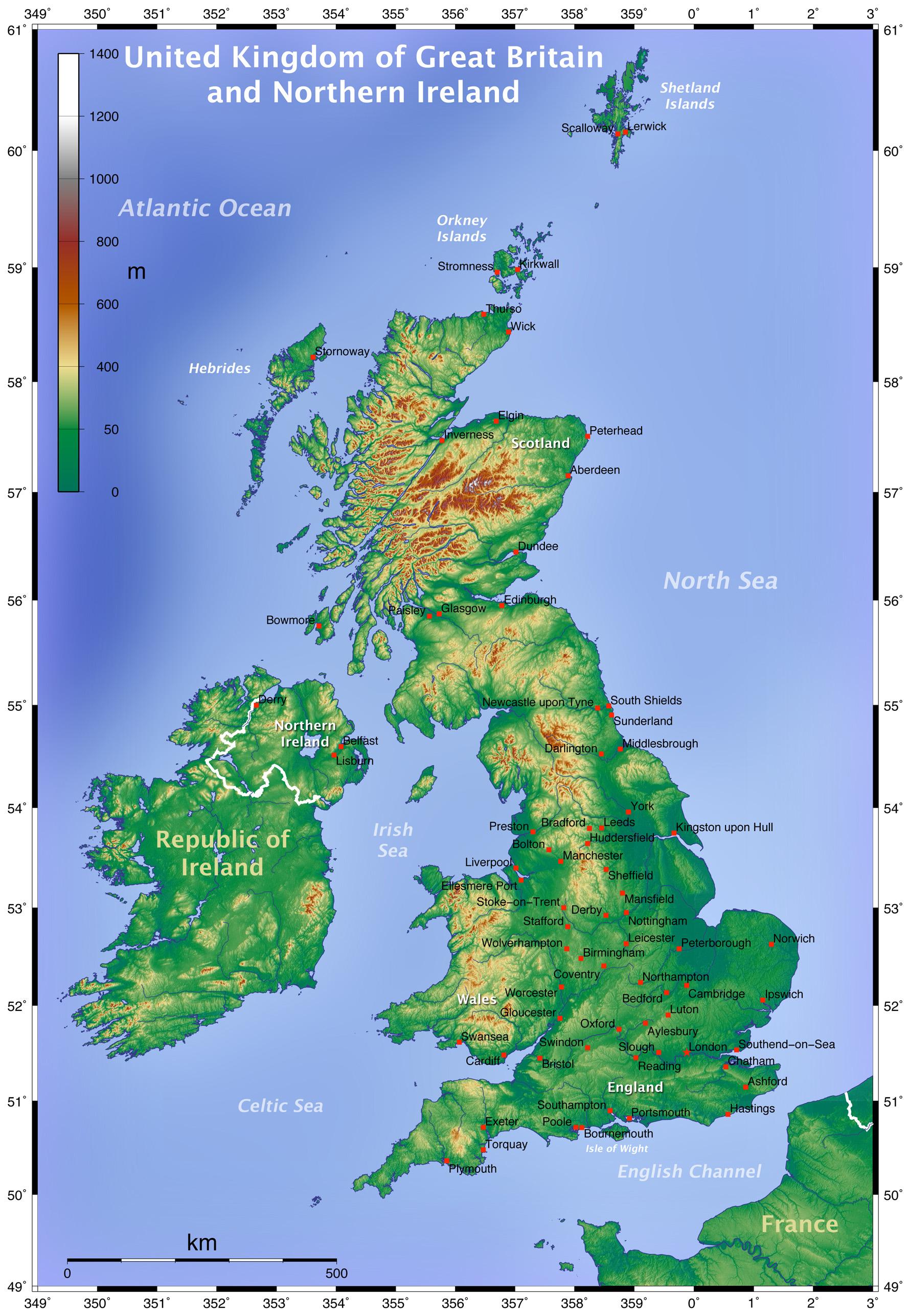mapy wielkiej brytanii szczeg owa mapa wielkiej brytanii w j zyku angielskim mapa. Black Bedroom Furniture Sets. Home Design Ideas